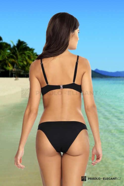 Czarny dwuczęściowy kostium kąpielowy push-up