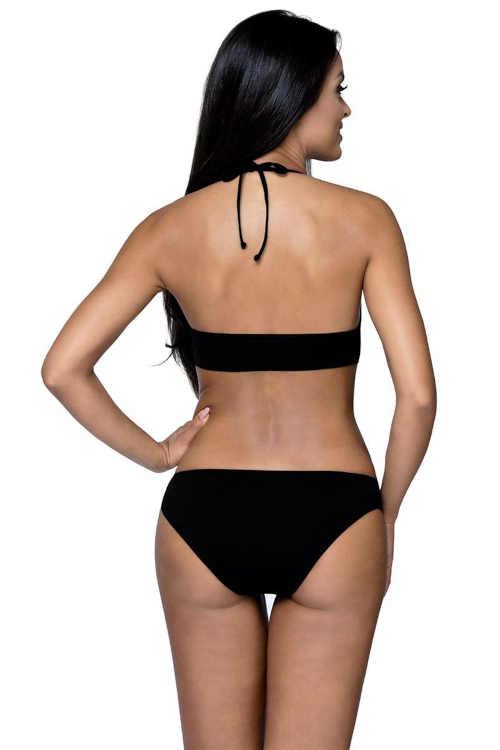 Czarne i białe bikini w kropki