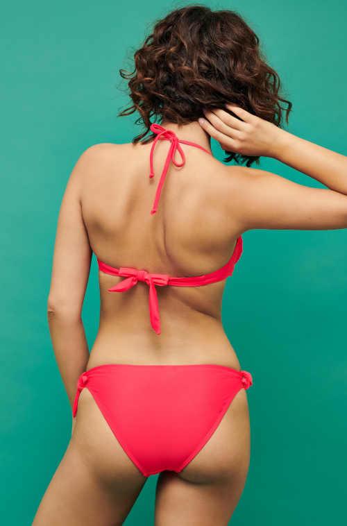 Czerwony damski dwuczęściowy strój kąpielowy