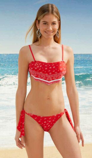 Modne bikini w oryginalnym kroju i wyrazistych kolorach.