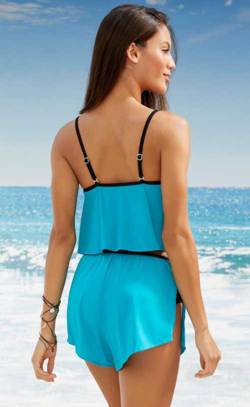 Strój kąpielowy damski niebieski Bonprix