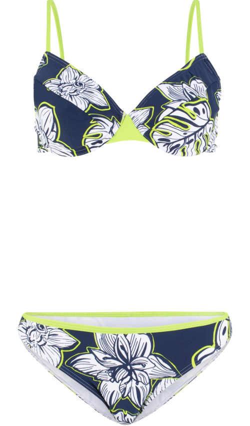 Modne bikini damskie z fiszbinami w dwóch kolorach