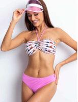 Damskie bikini w nowoczesny wzór z efektownymi marszczeniami